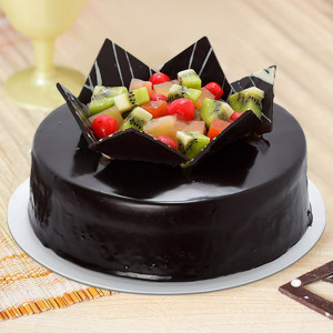 Fruit Chocolate Cake