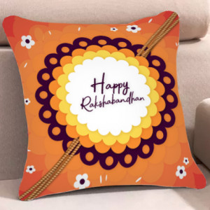 Happy Rakshabandhan Cushion