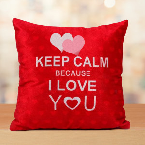 Keep Calm Valentine Cushion