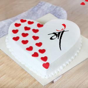 Little Heart Cake For Mom
