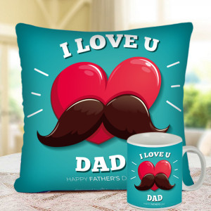 Love you DaD Cushion and Mug