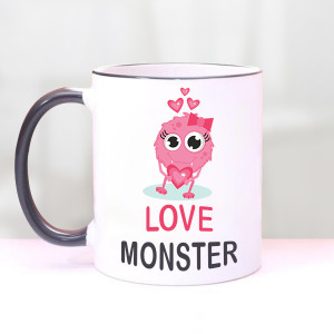 Love Monster Valentine Mug
