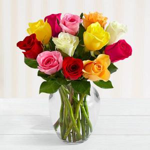 Mixed Roses Vase