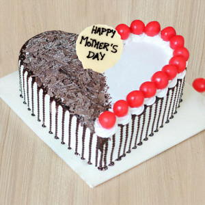 Mother's Day Heart Shape Black Forest Cake