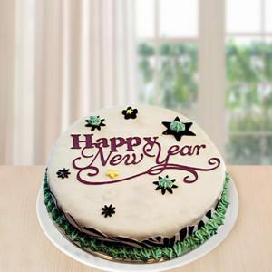 New Year Choco Fondant Cake