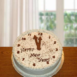 New Year Choco Vanilla Cake