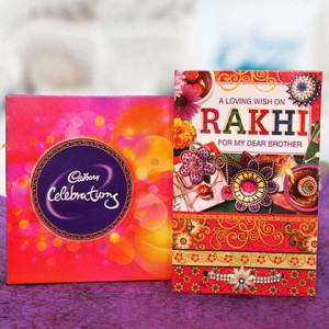 Rakhi, 121.3gm Celebration and a Greeting Card