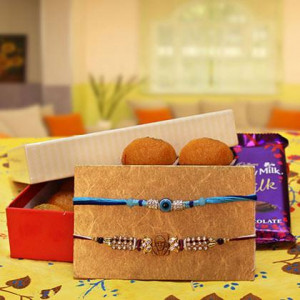 Rakhi, Motichur Ladoo and a Dairy Milk Silk