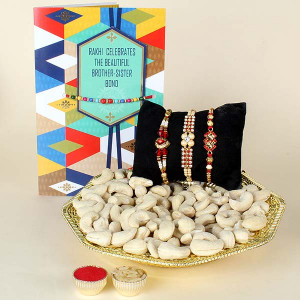 Rakhi ,Cashew and Greeting Card