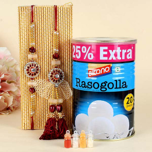 Rakhi For Bhaya n Bhabi with Rasgulla