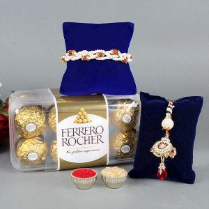 Rakhi with Ferrero Rocher