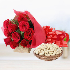 Red Roses with Cashew