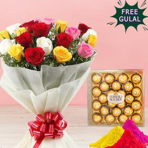 Rocher & Flower Holi Combo