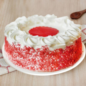 Round Shape Red Velvet  Cake
