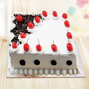 Square Shape Black Forest Cake