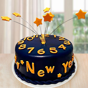 Starry New Year Cake