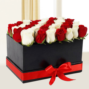 White N Red Floral Arrangement