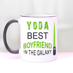 Yoda Best Boyfriend Star Wars Valentine Mugs