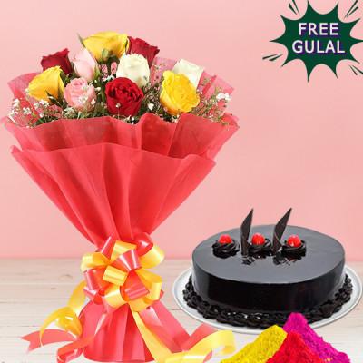 Cake With Roses Hamper
