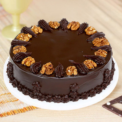 Chocolaty Walnut Cake