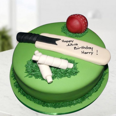 Cricket Bat Ball Cake