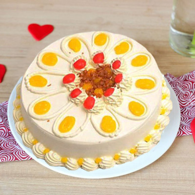 Eggless Butterscotch Cake Half kg