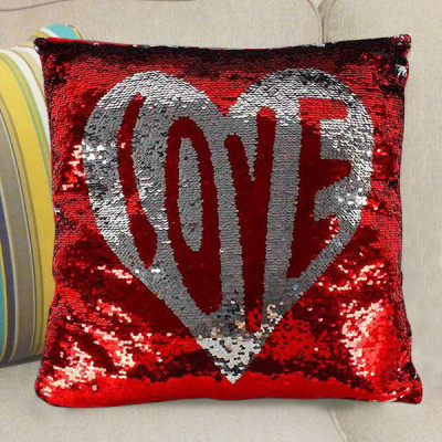 Heart Full Of Love Color Changing sequined Cushion