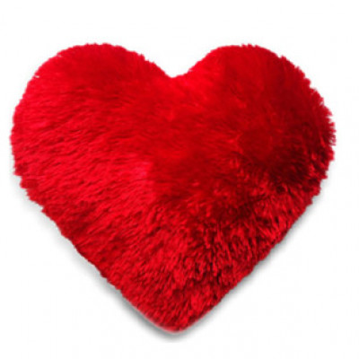 Heart Shaped Fur Cushion
