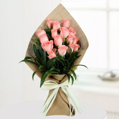 Light Pink Roses Bunch
