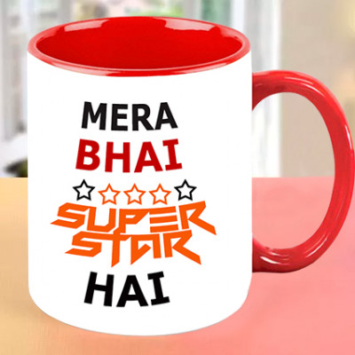 Mera Bhai Superstar Personalised Mug
