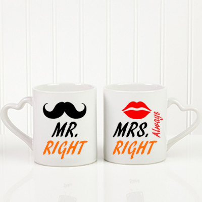 Mr. & Mrs. Right Couple Mug