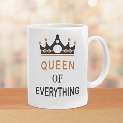 Queen of Everything Couple Mugs