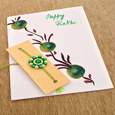 1 Rakhi with 1 Greeting Card