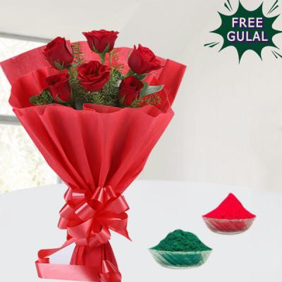 Romantic Red Holi