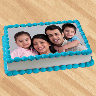 Square Shape Photo Cake