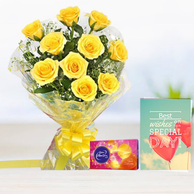 Yellow Rose N Greeting Card